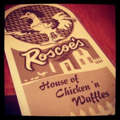 Photo taken at Roscoe's House of Chicken and Waffles by Daniela on 7/11/2012