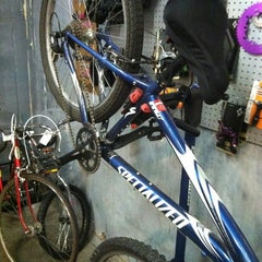 Photo taken at Kyle's Bike Shop by Michael P. on 2/20/2012