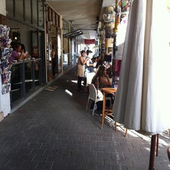 Photo taken at Cafe Tachtit (קפה תחתית) by yaakov t. on 5/24/2012