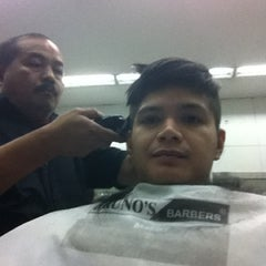 Photo taken at Bruno's Barbers by Allan Joseph H. on 2/12/2012