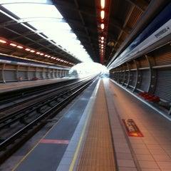 Photo taken at Metro Rojas Magallanes by Nelita P. on 3/24/2012