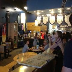 Photo taken at Burrito Boarder by Jennifer C. on 3/13/2012