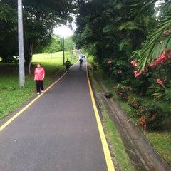 Photo taken at Parque Recreativo y Cultural Omar by Plinio S. on 6/27/2012