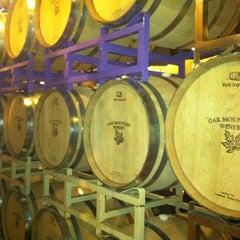 Photo taken at Oak Mountain Winery by Travis P. on 4/28/2012