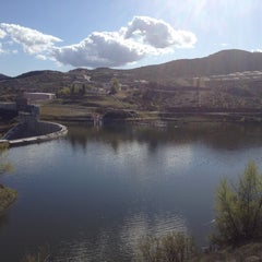 Photo taken at Canyon Lake Dam by Payton B. on 4/1/2012