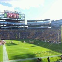 Photo taken at Lambeau Field by Edgars E. on 9/9/2012