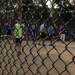 Photo taken at Jimmie Foxx Field at Kauffman Park by Tim B. on 8/16/2012