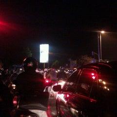 Photo taken at Halte TransJakarta PGC by Dwi P. on 4/12/2012