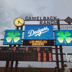 Photo taken at Camelback Ranch - Glendale by Carolynne K. on 3/18/2012