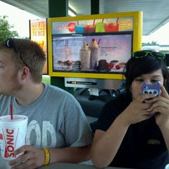 Photo taken at SONIC Drive In by Taylor W. on 4/18/2012