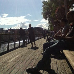 Photo taken at The River Liffey by Junior on 8/21/2012