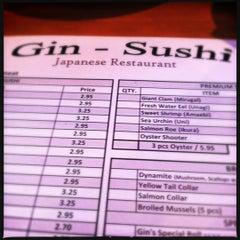 Photo taken at Gin Sushi by christopher h. on 4/28/2012