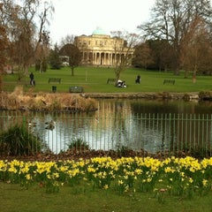 Photo taken at Pittville Park & Lake by Betti M. on 3/10/2012
