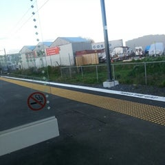 Photo taken at Onehunga Train Station by Nizzy A. on 8/13/2012