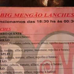 Photo taken at Big Mengão Lanches by Hiago L. on 8/27/2012