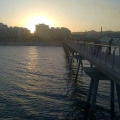 Photo taken at Pont del Petroli by Spot P. on 7/17/2012