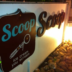 Photo taken at Scoop ice cream by MJ Y. on 6/8/2012