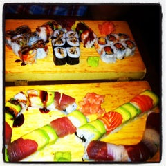 Photo taken at Cherin Sushi by Amanda S. on 8/26/2012