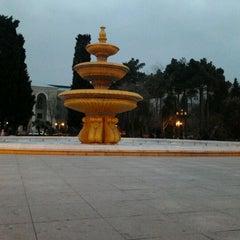 Photo taken at Hüseyn Cavid parkı by Tural S. on 2/17/2012