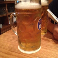 Photo taken at Max Bratwurst und Bier by Aaron L. on 6/20/2012