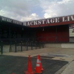 Photo taken at Backstage live by Brandi F. on 5/10/2012