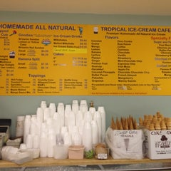 Photo taken at Tropical Ice Cream Cafe by Faith on 8/24/2012