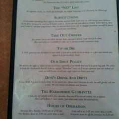 Photo taken at Harborside Bar & Grill by Kiki B. on 6/23/2012