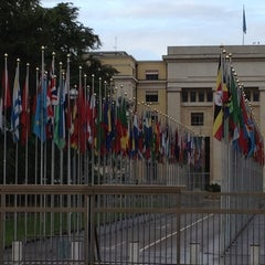 Photo taken at Palais des Nations by Adam R. on 5/5/2012