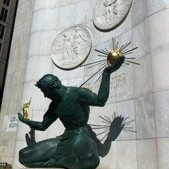 Photo taken at Spirit of Detroit by LJ on 3/10/2012