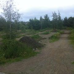 Photo taken at Onkiniemen BMX-rata by Miko S. on 7/24/2012