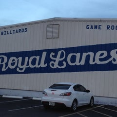 Photo taken at Royal Lanes Bowling Alley by Manuela O. on 7/31/2012