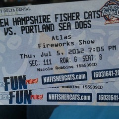 Photo taken at Northeast Delta Dental Stadium by Nicole R. on 7/5/2012