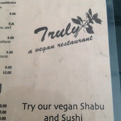 Photo taken at Truly Vegan Restaurant by Elika P. on 7/21/2012