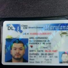 Photo taken at Maryland Motor Vehicle Administration (MVA) by Abel H. on 7/17/2012