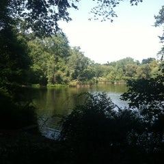 Photo taken at Central Park Duck Pond by Brandon B. on 8/31/2012