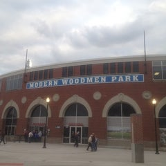Photo taken at Modern Woodmen Park by Matty O. W. on 5/9/2012
