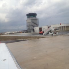 Photo taken at Aeropuerto de Pamplona (PNA) by Victor M. on 3/4/2012