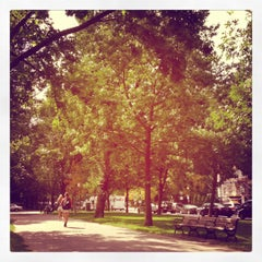 Photo taken at Commonwealth Avenue Mall by Lisa on 9/6/2012
