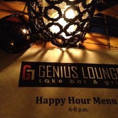 Photo taken at Genius Lounge and Sake Bar by lekili d. on 2/23/2012