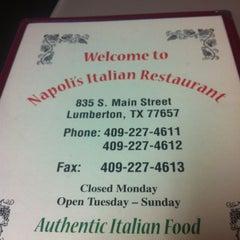 Photo taken at Napoli's by Sheena M. on 2/12/2012