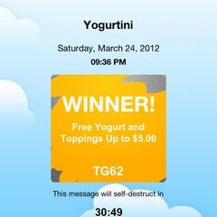 Photo taken at YogurtiniOP by Joey F. on 3/25/2012