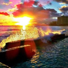 Photo taken at Waikiki Beach Walls by Stephen C. on 7/20/2012