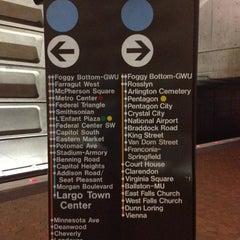 Photo taken at Foggy Bottom-GWU Metro Station by Big D. on 4/4/2012