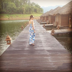 Photo taken at Ruk num resort by Nong E. on 4/19/2012