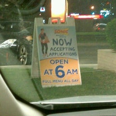 Photo taken at SONIC Drive In by Michael W. on 4/27/2012
