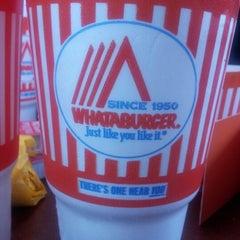 Photo taken at Whataburger by Megan R. on 8/13/2012