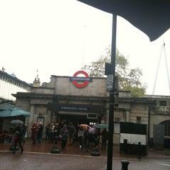 Photo taken at Embankment London Underground Station by Egman E. on 5/5/2012