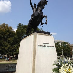 Photo taken at José de San Martin Memorial / Triangle Park by Dave M. on 8/17/2012