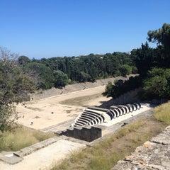 Photo taken at Αρχαίο Στάδιο (Ancient Stadium) by Sarah . on 5/26/2012