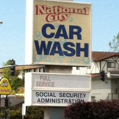 Photo taken at National City Car Wash by Drew W. on 4/12/2012